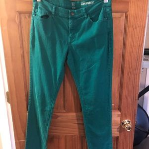 New York & Company Green Skinny Jeans Size 10